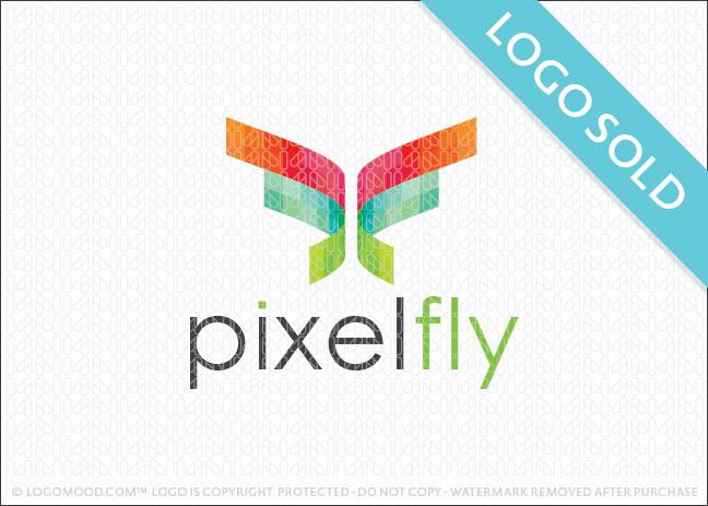 Pixel Butterfly Logo Sold