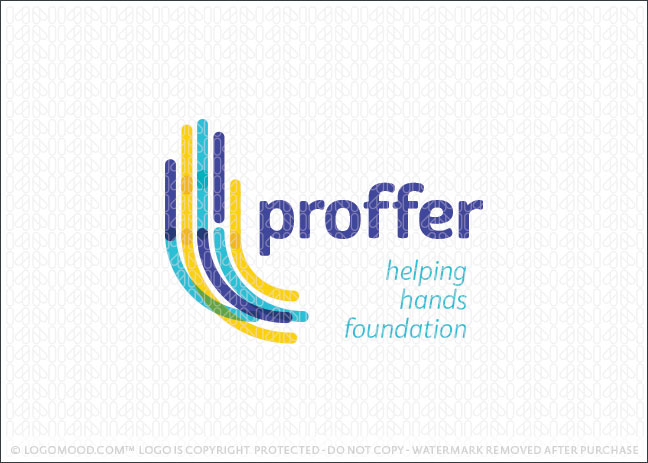 Foundation Hand Charity Logo For Sale