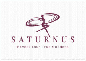 Saturn Goddess Beauty Woman Spa Logo For Sale