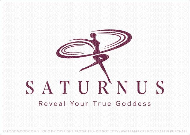 Saturn Goddess Beauty Woman Spa Logo For Sale