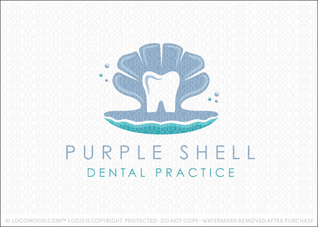 Peal Seashell Dental Practice Logo For Sale