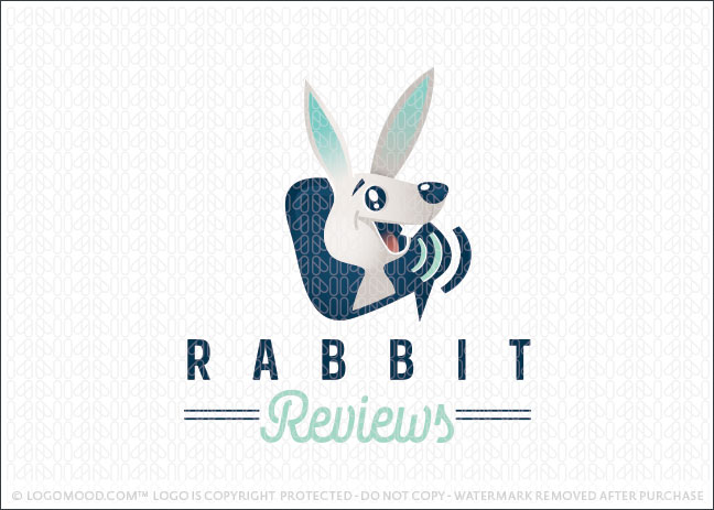Bunny Rabbit Reviews Communication Logo for Sale