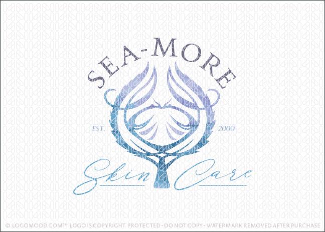 Crab Tree Ocean Seaside Skin Care Logo For Sale