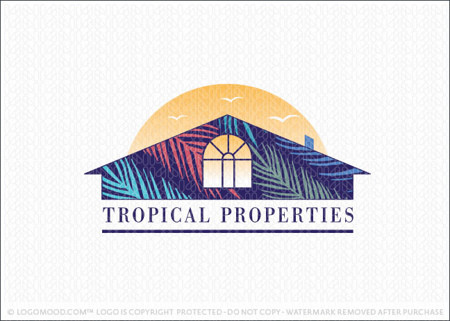 Tropical Properties Real Estate Logo For Sale