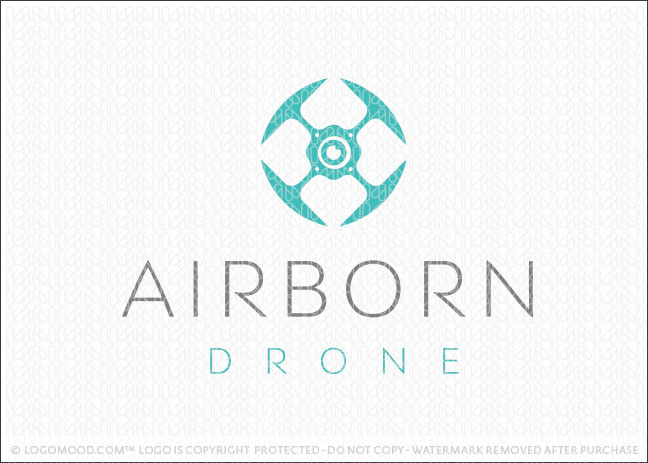 Air Born Drone Flight Transportation Surveillance Logo for Sale