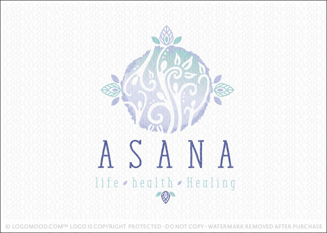 Asana natural Holistic Healing Logo For Sale