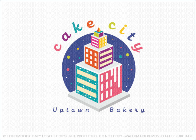 Cake City Uptown Bakery Logo For Sale