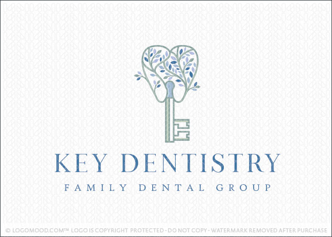 Key Tree Dental Dentistry Logo For Sale