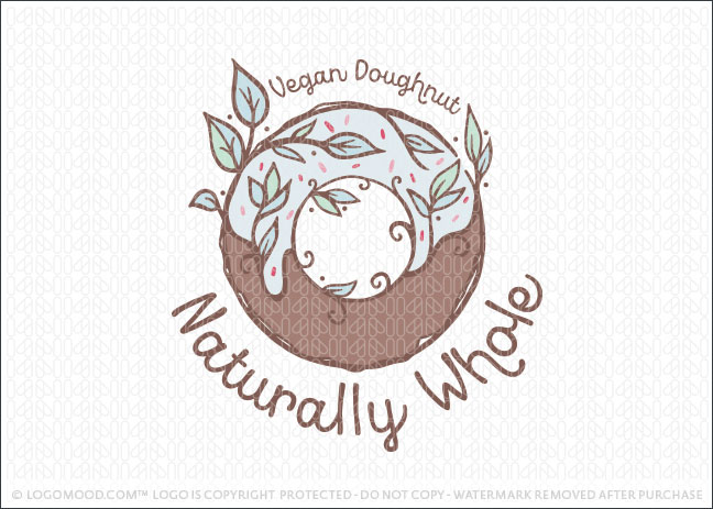 Naturally Whole Organic Natural Doughnuts Logo For Sale