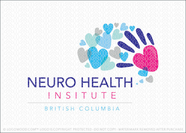 Neuro Heart Love Brain Health Institute Logo For Sale