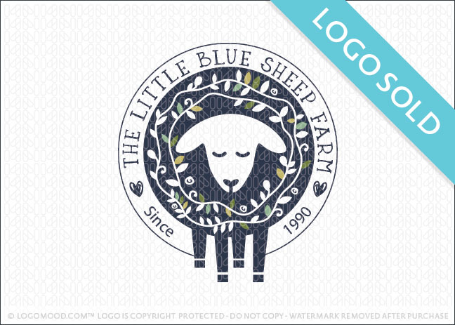 The Little Blue Sheep Farm Logo Sold