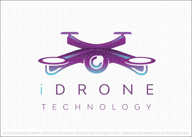 Eye Drone Surveillance Technology Flight Logo for Sale