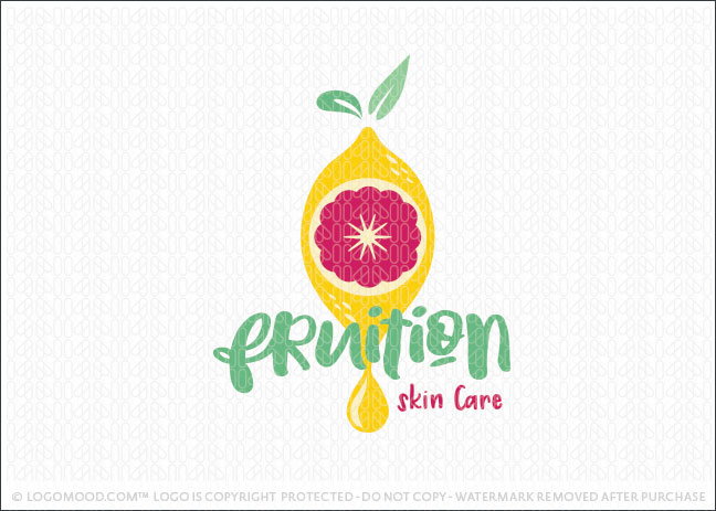 Fruit Fusion Citrus Lemon Grapefruit Skin Care Logo For Sale