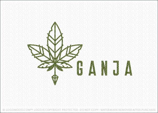 Ganja Cannabis Native Leaf Holistic Healing Logo For Sale