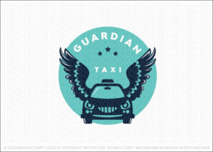 Guardian Taxi Cab Transportation Logo For Sale