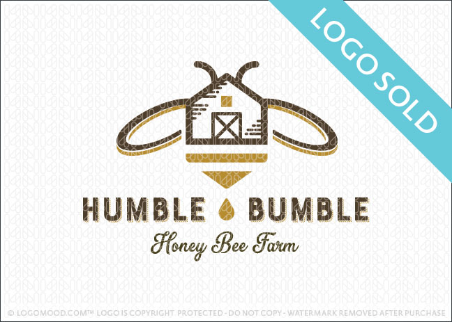 Humble Bumble Honey Bee Farm Logo Sold