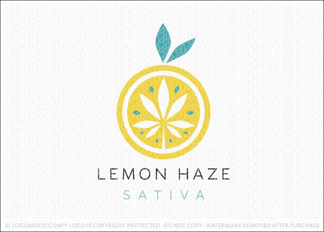 Lemon Haze Cannabis Marijuana Citrus Lemon Logo For Sale
