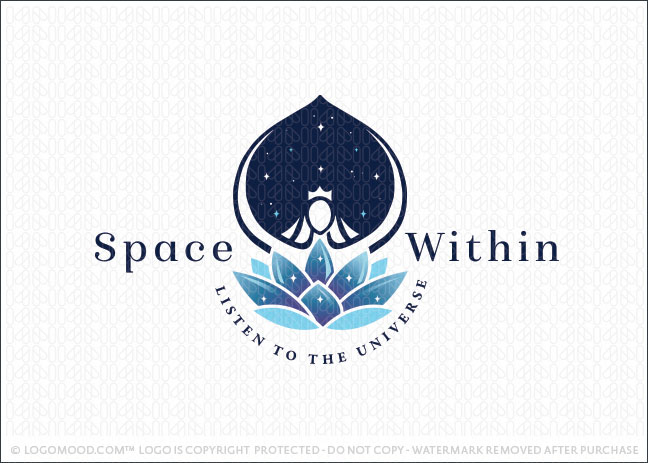 Devine Universe Goddess Space Within Beauty Logo For Sale