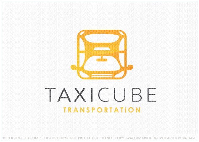 Taxi Cube Cab Transportation Vehicle Logo For Sale