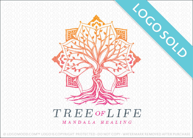 Tree Of Life Mandala Logo Sold