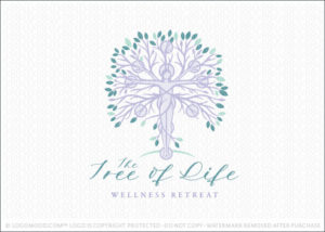 Tree Of Life Natural Holistic Woman Goddess Tree Logo for Sale