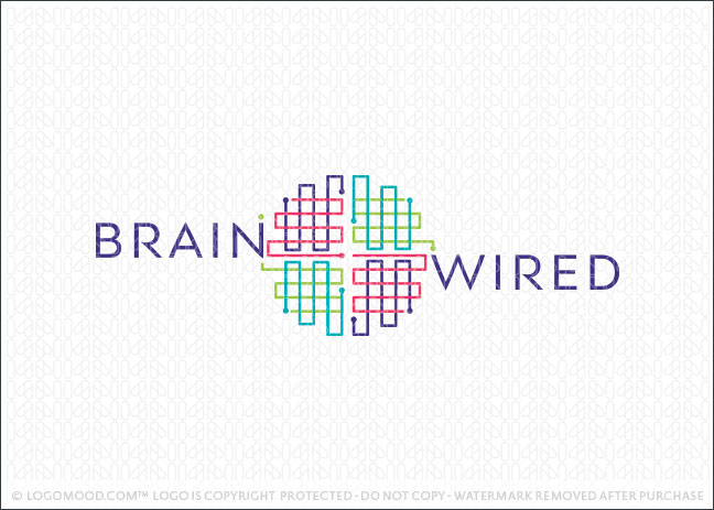 Readymade Logos for Sale Brain Wired | Readymade Logos for Sale