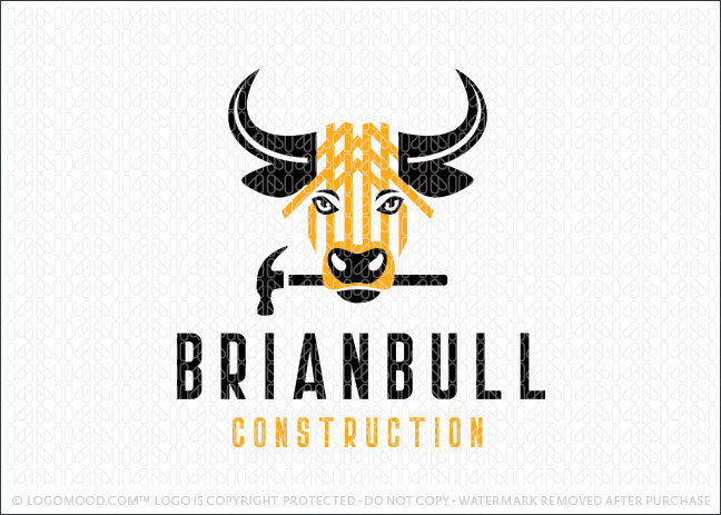 Bull Hammer Construction Builder Logo For Sale