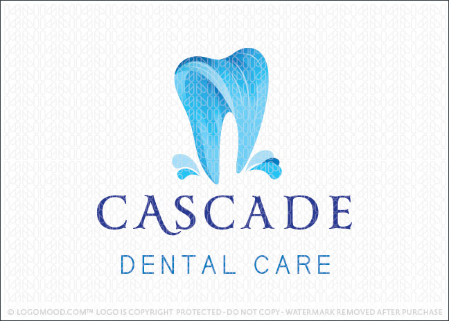 Cascade Waterfall Dental Care Dental Practice Logo For Sale