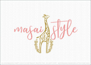 Modern stylish Giraffe Tree Logo for Sale