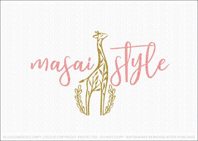 Modern stylish Giraffe Tree Logo for Sale
