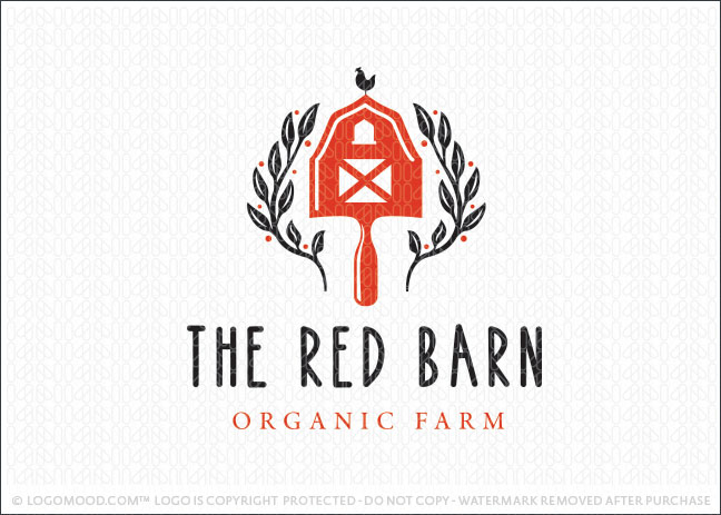 Red Farm Barn Shovel Logo For Sale