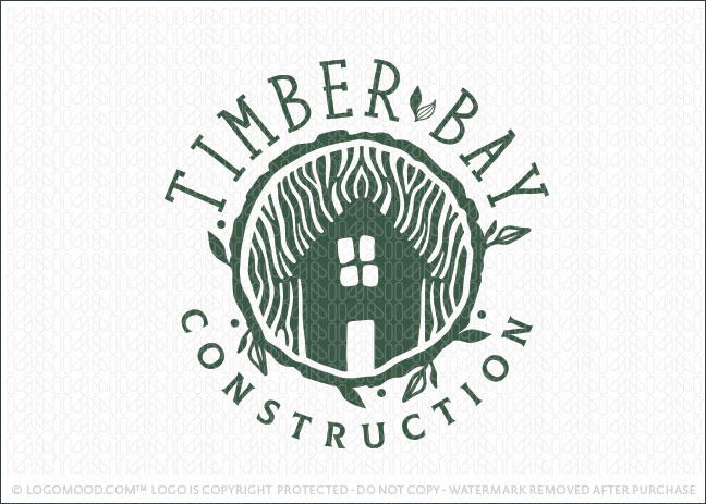 Timber Bay Wood Tree Construction Logo For Sale