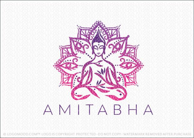 Spiritual Meditating Buddha Mandal Healing Logo For Sale