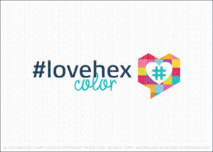 Love Chat Pixel Hexadecimal Colors Logo For Sale