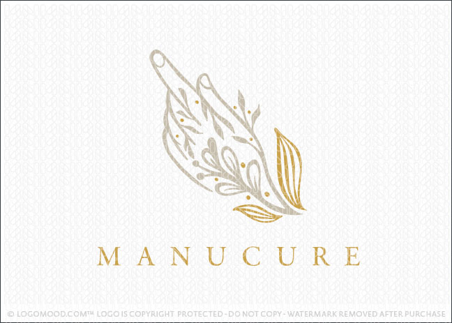 Natural Care hand Manicure Pedicure Logo For Sale