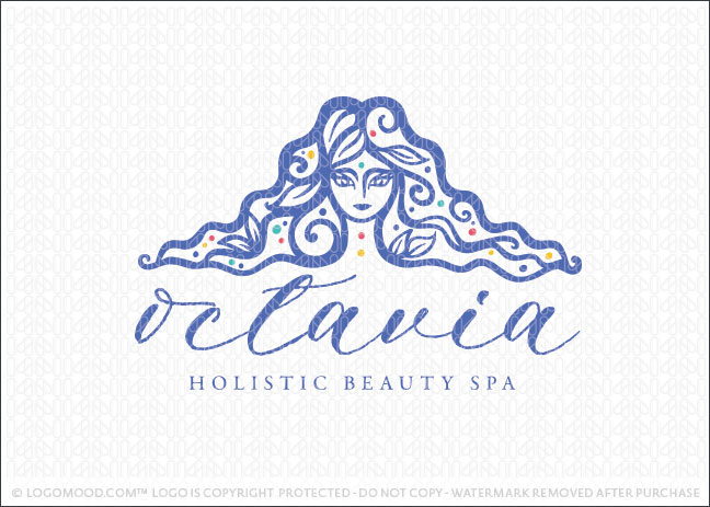Octavia Woman Holistic Beauty Spa Logo For Sale