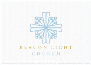 Beacon Lighthouse Sun Rays natural Church Logo For Sale