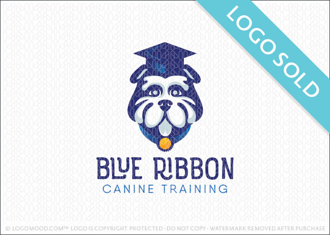 Blue Ribbon CanineT raining Logo Sold