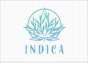 Medical Cannabis Marijuana Leaf Logo For Sale