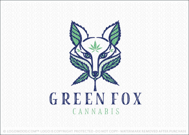 Medical Fox Cannabis Marijuana Leaf Logo For Sale