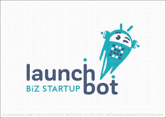 Robot Biz Starup Lauch Logo For Sale