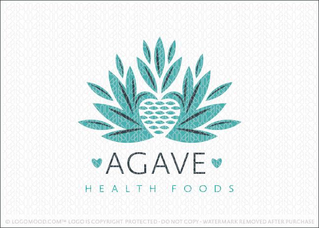 Agave Plant Heathy Heart Logo For Sale