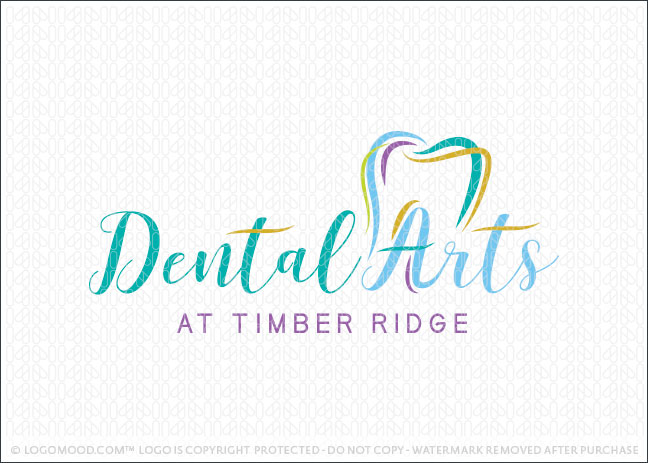 Modern Dental Arts Dental Practice Logo For Sale