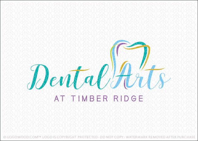 Modern Dental Arts Dental Practice Logo For Sale