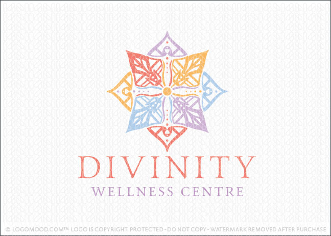 Divinity Wellness Godess Holistic Mandala Logo For Sale