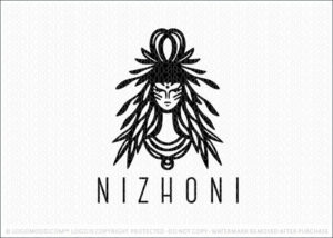 Godess Tribal Bohemian Beauty Woman Logo For Sale