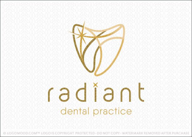 Radiant Dental Practice Dentistry Molar Tooth Logo For Sale