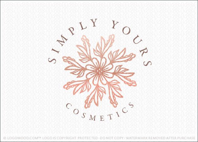 Floral Flower Bouquet Natural Botanical Logo For Sale