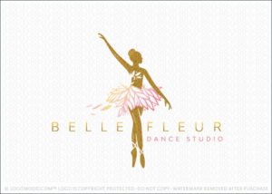 Belle Fleur Beautiful Flower Blossom Ballerina Dancer Logo For Sale