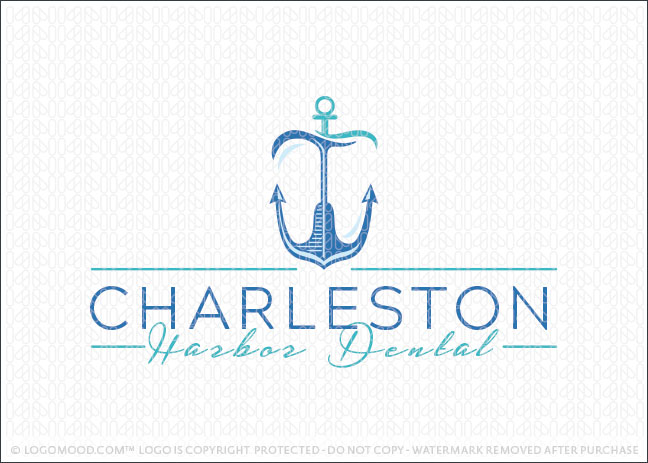 Harbor Ancor Dental Tooth Logo For Sale